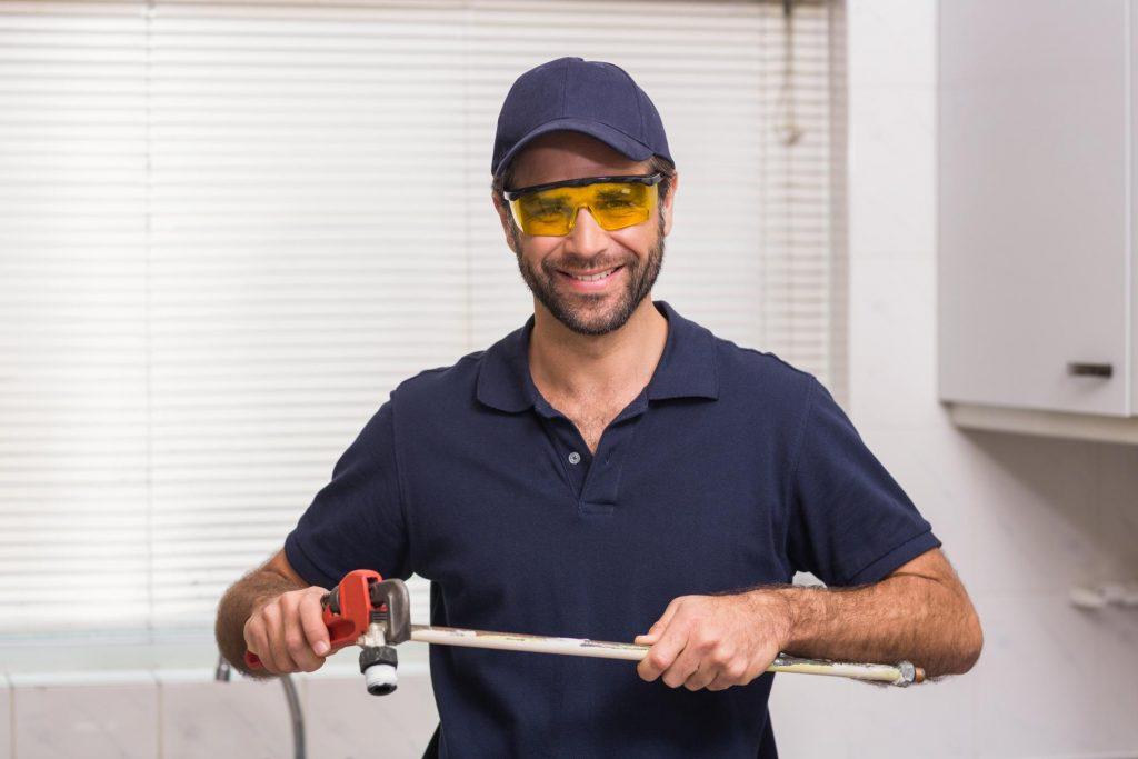 professional handyman at work